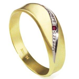 Goldmaid Bicolor Ring mit rubin
