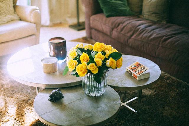 Blumen Wohnzimmer gelb