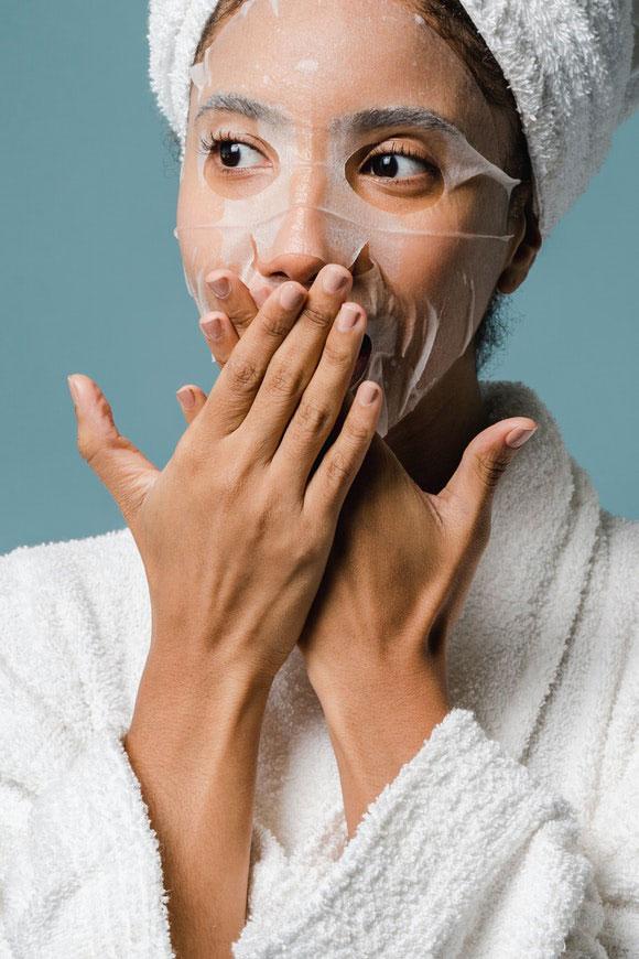 Gesicht Wellness Alltag